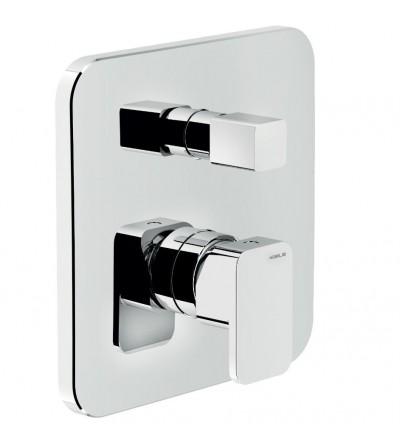 shower mixer for concealed installation with 2 outlets diverter Nobili Loop LP90100CR