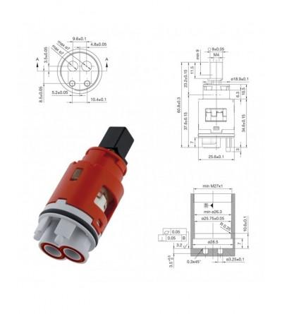 Cartuccia ricambio Ø 25 Hydroplast FX.25-11000