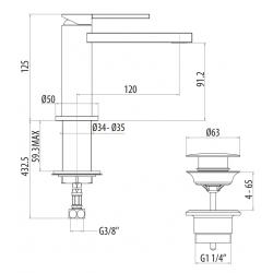Miscelatore lavabo Gattoni Color 8040