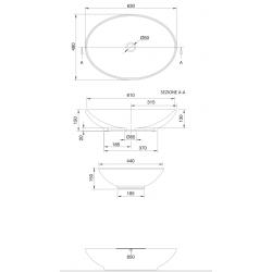SCARABEO - LAY-ON WASHBASIN THIN-LINE NECK 8045