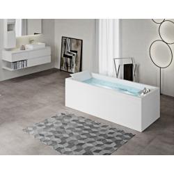 Rectangular bathtub with...