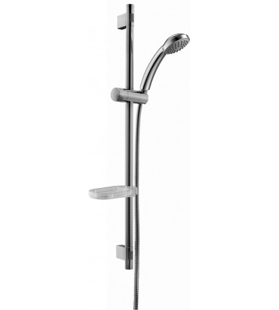 Brass sliding rail chrome ABS shower Paffoni Trieste ZSAL112