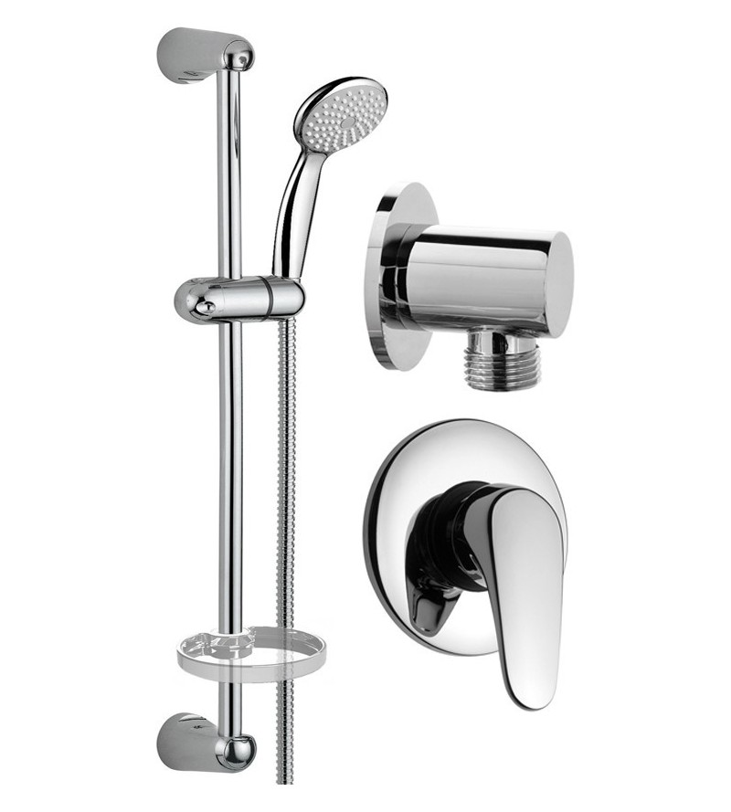 Complete round set for shower Pollini KIT1