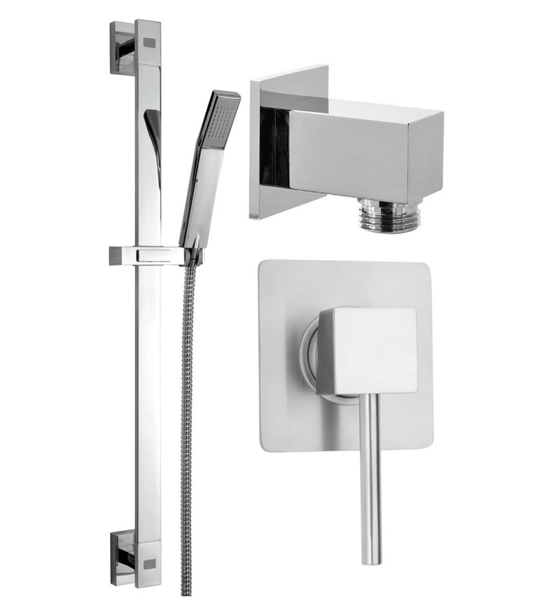 Complete square shower set Pollini KIT2