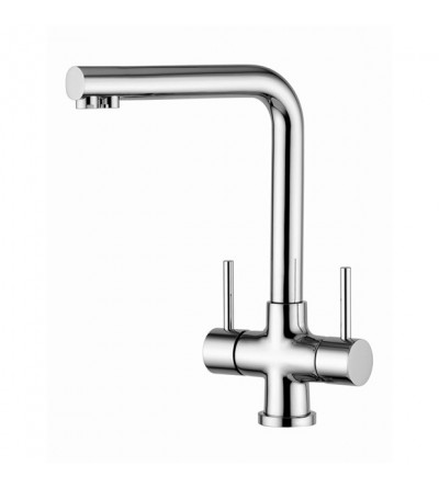 Kitchen sink mixer for water treatment quadrodesign 303