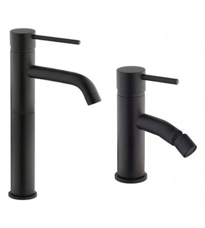 Set completo lavabo alto e bidet nero opaco Piralla Iseo KITISEO1