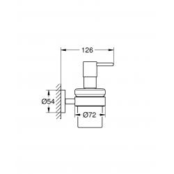 Dispenser per sapone liquido Grohe Essentials 40448001