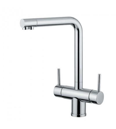 5-Wege-Küchenarmatur gefiltertes Wasser Quadrodesign 355