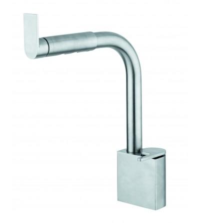 Miscelatore da cucina per trattamento acque separate acciaio satinato Quadrodesign 359