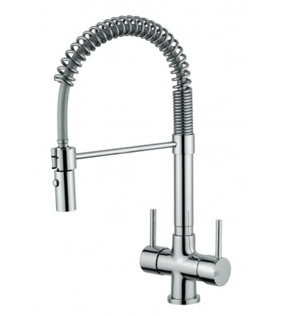 Kitchen sink mixer for water treatment 3-way Quadrodesign 303/4