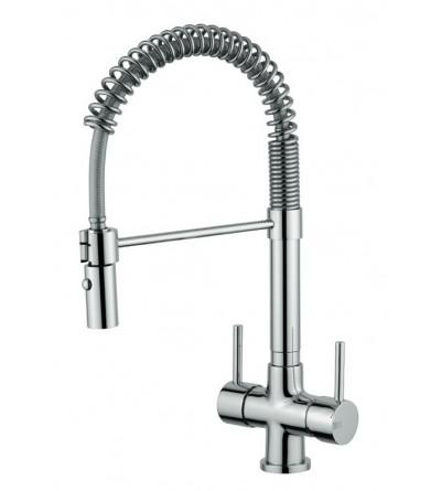 Miscelatore bicomando per acqua filtrata 3 vie con molla Quadrodesign 303/4