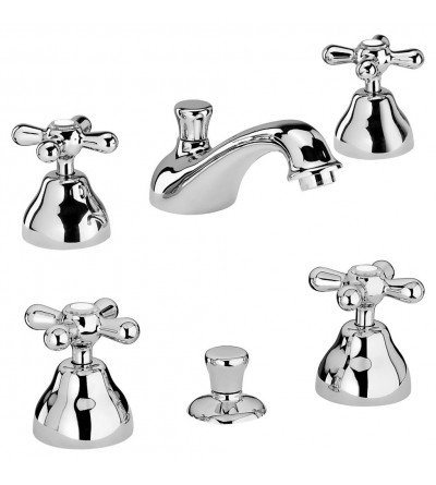 Pair of three-hole taps for washbasin and bidet Piralla Sofia KITSOFIA3