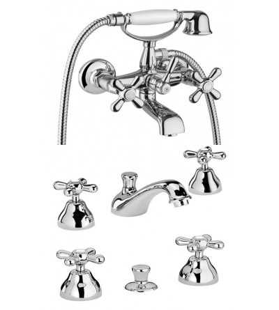 Complete bathroom kit with 3-hole mixer taps Piralla KITSOFIA6