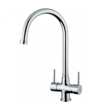 Kitchen sink mixer for water treatment quadrodesign 303/1