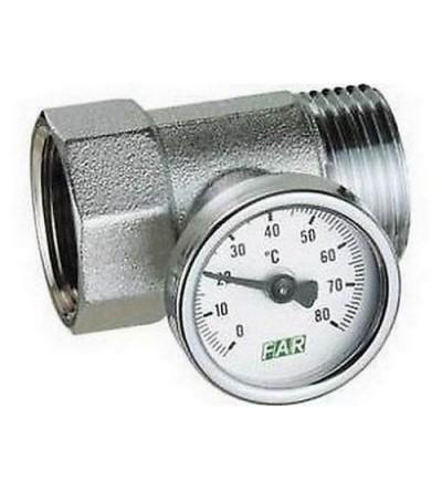 Raccordo portatermometro completo di termometro 1″ FAR 3432