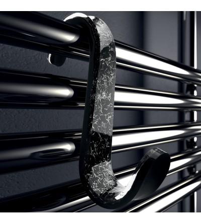 Appendiabito singolo per doccia nero e scaglie argento TL.Bath For.Box 1351/AG
