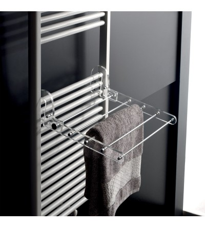 Towel rack with bath towel holder with 3 removable hooks tl.bath K137/C/TR