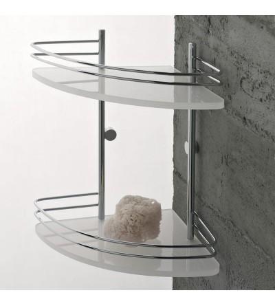 2 shelves corner shelf for shower TL.Bath Riviera 1583