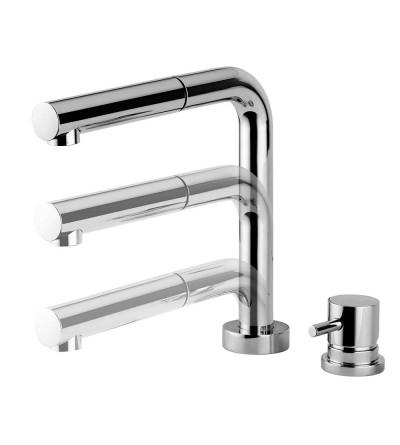 Miscelatore per lavello cucina abbattibile Quadrodesign 297/2