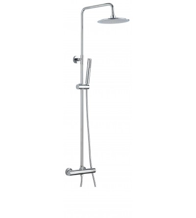 Columna de ducha termostática versión redonda Damast Sally 12448