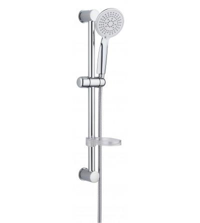 Duschstange mit Dusche 5 Düsen und Seifenschale Damst 12529