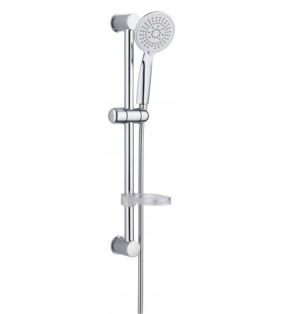 Set saliscendi con doccia 5 getti e portasapone Damst 12529