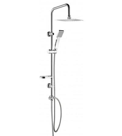 Columna de ducha cuadrada sin mezclador Damast Smart relax Q 12445