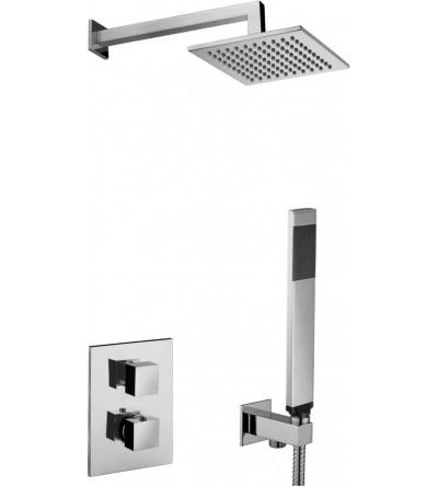 Kit Perfecto Set de ducha termostático Paffoni Level KITLEQ518