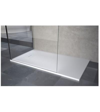Square shower tray in matt white resin Novellini Novosolid
