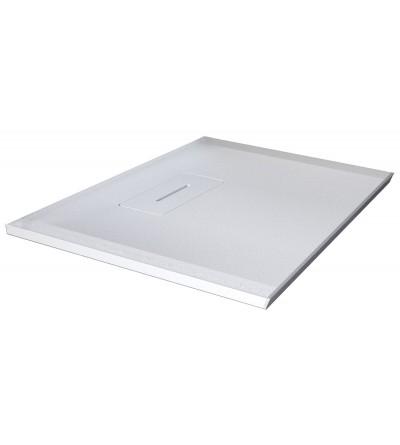 Piatto doccia quadrato in resina bianco opaco Novellini Novosolid