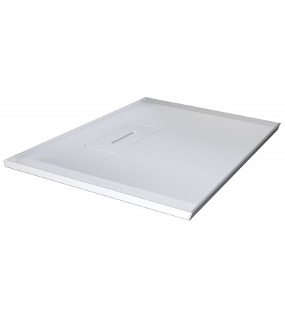 Square shower tray in matt white resin Novellini Novosolid