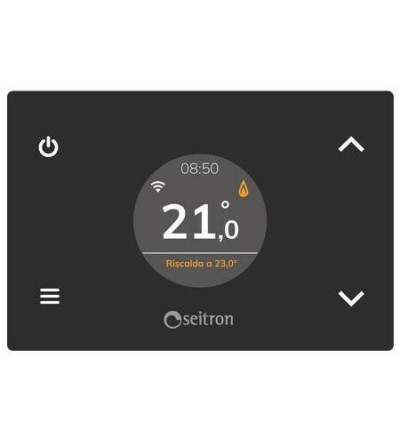 Semi-recessed programmable thermostat WiFi Seitron WI-Time