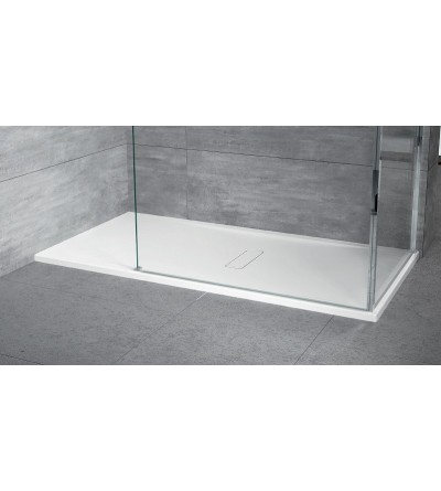 Shower tray in mat white acrylic Novellini Custom