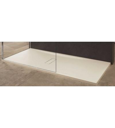 Beige acrylic shower tray Novellini Custom