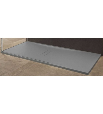 Piatto doccia in acrilico colore grigio Novellini Custom