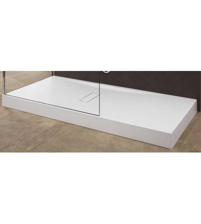 Acrylduschwanne 12 cm matt weiß Novellini Custom