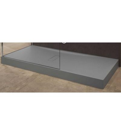 Acrylic shower tray 12 cm grey color Novellini Custom