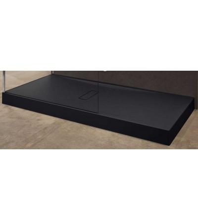 Piatto doccia in acrilico 12 cm nero opaco Novellini Custom