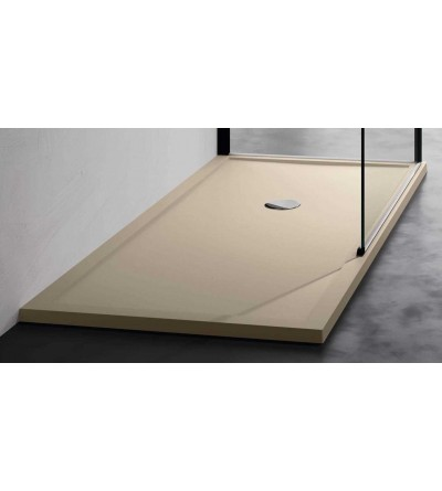 Shower tray 4.5 cm in beige acrylic Novellini Olympic plus