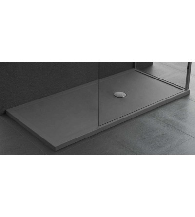 Piatto doccia in acrilico 4.5 cm colore grigio Novellini Olympic plus