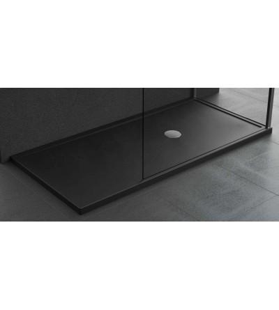 Shower tray 4.5 cm matt black acrylic Novellini Olympic plus
