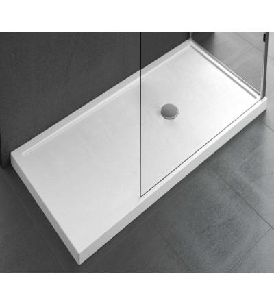 Piatto doccia da appoggio 12.5 cm bianco lucido Novellini Olympic Plus
