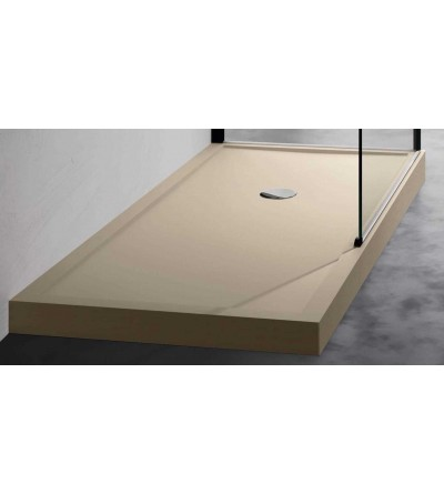 Arbeitsplatte Duschwanne 12,5 cm beige Novellini Olympic Plus