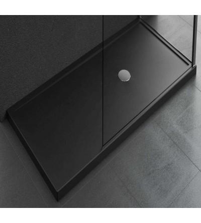 Arbeitsplatte Duschwanne 12,5 cm schwarz Novellini Olympic Plus