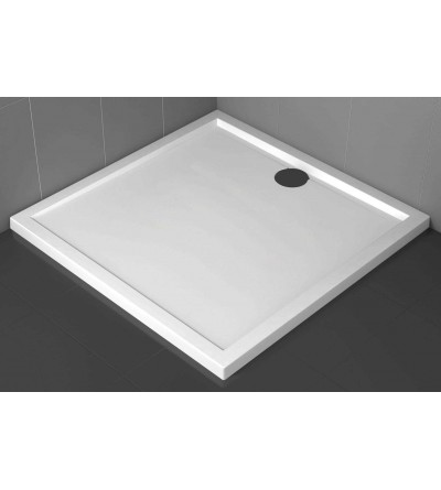 Square shower tray 4.5 cm glossy white Novellini Olympic