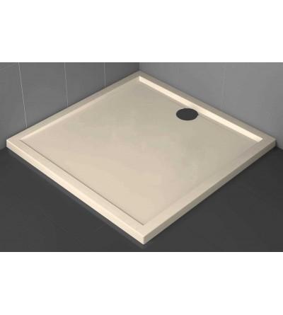 Plato de ducha cuadrado 4.5 cm beige Novellini Olympic