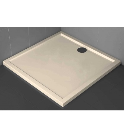Square shower tray 4.5 cm beige Novellini Olympic