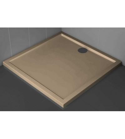 Piatto doccia quadrato 4.5 cm colore corda Novellini Olympic