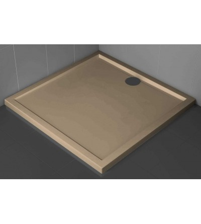 Square shower tray 4.5 cm rope color Novellini Olympic