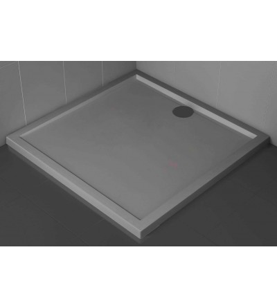 Square shower tray 4.5 cm Grey color Novellini Olympic